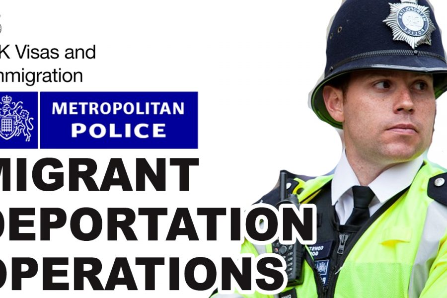 METROPOLITAN POLICE REINFORCES DEAL WITH HOME OFFICE AGAINST MIGRANTS