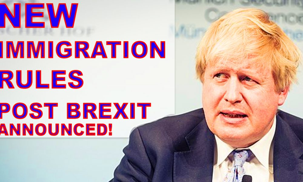 NEW IMMIGRATION RULES IN CASE OF BREXIT NO DEAL